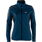Antigua Women's Atlanta Braves Full-Zip Navy Discover Jacket