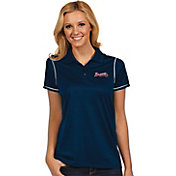 Antigua Women's Atlanta Braves Icon Navy Performance Polo