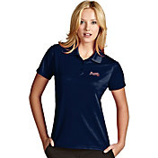 Antigua Women's Atlanta Braves Exceed Navy Performance Polo