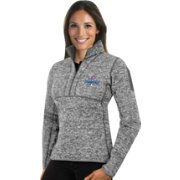Antigua Women's 2016 World Series Champions Chicago Cubs Grey Fortune Half-Zip Pullover
