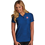 Antigua Women's Chicago Cubs Illusion Royal Striped Performance Polo