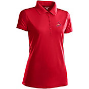 Antigua Women's St. Louis Cardinals Dark Red Xtra-Lite Pique Performance Polo