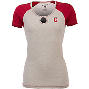 Antigua Women's Cleveland Indians White/Red Crush T-Shirt
