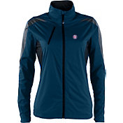 Antigua Women's Washington Nationals Full-Zip Navy Discover Jacket