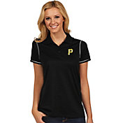 Antigua Women's Pittsburgh Pirates Icon Black Performance Polo