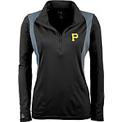 Antigua Women's Pittsburgh Pirates Delta Black Quarter-Zip Pullover