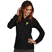 Antigua Women's Pittsburgh Pirates Full-Zip Black      Golf Jacket