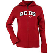 Antigua Women's Cincinnati Reds Dark Red Signature Full-Zip Fleece Hoodie