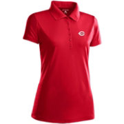 Antigua Women's Cincinnati Reds Dark Red Xtra-Lite Pique Performance Polo