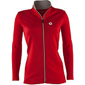 Antigua Women's Cincinnati Reds Leader Red Full-Zip Jacket