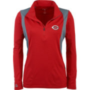 Antigua Women's Cincinnati Reds Delta Red Quarter-Zip Pullover