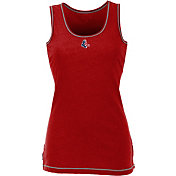 Antigua Women's Boston Red Sox Patriotic Logo Red Sport Tank Top