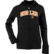 Antigua Women's Baltimore Orioles Black Signature Full-Zip Fleece Hoodie