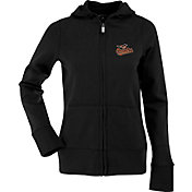 Antigua Women's Baltimore Orioles Signature Black Full-Zip Hoodie