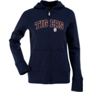Antigua Women's Detroit Tigers Navy Signature Full-Zip Fleece Hoodie