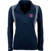 Antigua Women's Minnesota Twins Delta Navy Quarter-Zip Pullover