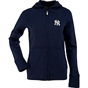 Antigua Women's New York Yankees Signature Navy Full-Zip Hoodie