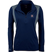 Antigua Women's Chicago Fire Navy Delta Quarter-Zip Pullover Top