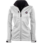 Antigua Women's Chicago Fire Traverse White Soft-Shell Full-Zip Jacket