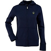 Antigua Women's Los Angeles Galaxy Signature Navy Full-Zip Hoodie