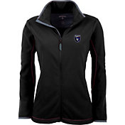 Antigua Women's San Jose Earthquakes Black Ice Full-Zip Fleece Jacket