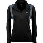 Antigua Women's San Jose Earthquakes Black Delta Quarter-Zip Pullover Top