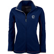 Antigua Women's Sporting Kansas City Navy Ice Full-Zip Fleece Jacket