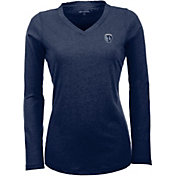 Antigua Women's Sporting Kansas City Flip Navy Shirt