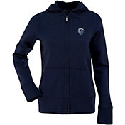 Antigua Women's Sporting Kansas City Signature Navy Full-Zip Hoodie