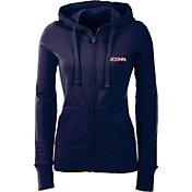 Antiqua Women's UConn Huskies Blue Full-Zip Hoodie