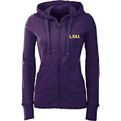 Antigua Women's LSU Tigers Purple Full-Zip Hoodie