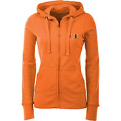 Antigua Women's Miami Hurricanes Orange Full-Zip Hoodie
