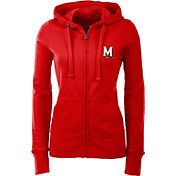 Antigua Women's Maryland Terpains Red Full-Zip Hoodie