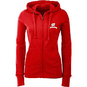 Antigua Women's Wisconsin Badgers Red Full-Zip Hoodie