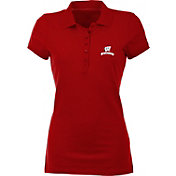 Antigua Women's Wisconsin Badgers Red Spark Polo