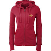 Antigua Women's Iowa State Cyclones Cardinal Full-Zip Hoodie