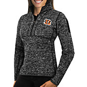 Antigua Women's Cincinnati Bengals Fortune Black Pullover Jacket