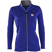 Antigua Women's New York Giants Leader Full-Zip Royal Jacket