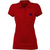 Antigua Women's New York Giants Red Spark Polo