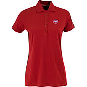 Antigua Women's Montreal Canadiens Red Spark Polo