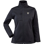 Antigua Women's Pittsburgh Penguins Traverse Soft Shell Full-Zip Black Jacket