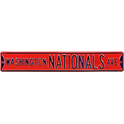 Authentic Street Signs Washington Nationals Avenue Red Sign