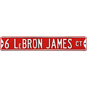 Authentic Street Signs Miami Heat '6 LeBron James Ct' Street Sign