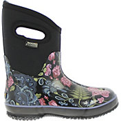 "BOGS Women's Classic Mid Bloom 9"" Insulated Waterproof Rain Boots"