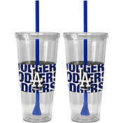 Boelter Los Angeles Dodgers Bold Sleeved 22oz Straw Tumbler 2-Pack