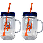 Boelter New York Mets 20oz Handled Straw Tumbler 2-Pack