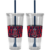 Boelter Los Angeles Angels Bold Sleeved 22oz Straw Tumbler 2-Pack