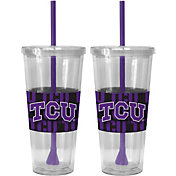 Boelter TCU Horned Frogs Bold Sleeved 22oz Straw Tumbler 2-Pack