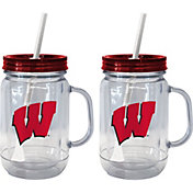 Boelter Wisconsin Badgers 20oz Handled Straw Tumbler 2-Pack
