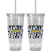 Boelter San Diego Chargers Bold Sleeved 22oz Straw Tumbler 2-Pack